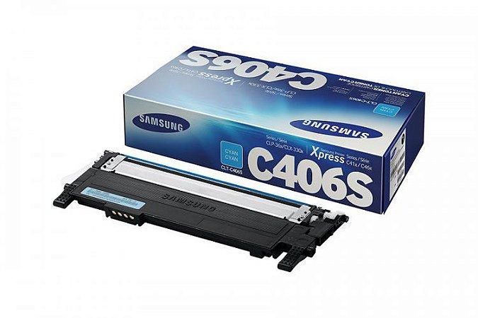 Toner Original Samsung Clt 406 C406S Cyan Clx 3300 3306 3186 Clp360 365 368 Clx3300 1K