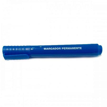 MARCADOR PERMANENTE RECARREGAVEL AZUL 12UND MP300