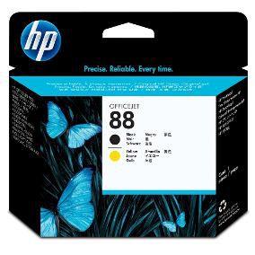Cabeça de Impressão Original HP 88 C9381A Preto/Amarelo Venc 2015