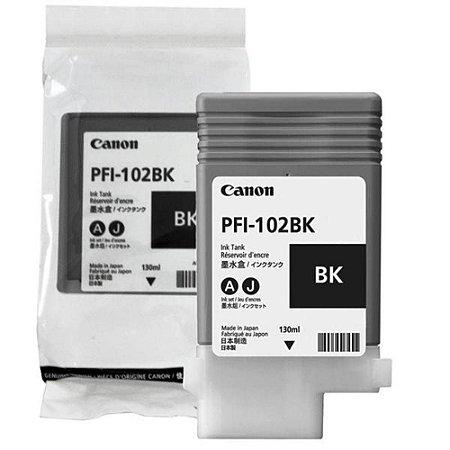 Cartucho Original CanonPfi-102bk Black IPF605 IPF700 IPF710 IPF720 IPF750 IPF755 IPF510 IPF620 130Ml