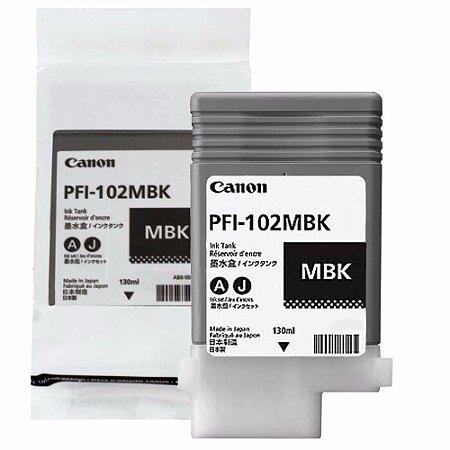 Cartucho Original Canon Pfi-102mbk Matte Black IPF605 IPF700 IPF710 IPF720 IPF750 IPF755 IPF510 IPF620 130Ml