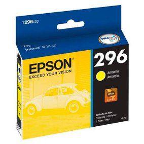 Cartucho Original Epson 296 T2964 T296420 Yellow XP-231 XP-241 XP-431 XP-441 4ml