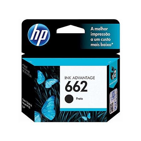 Cartucho Original HP 662 Black Cz103ab HP Deskjet 1015 2516 2546 3516 3546 4645 2510 2540 3545 2ml