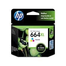 Cartucho Original HP 664xl Colorido F6v30ab HP Deskjet 1115 2136 3636 4536 3635 3776 3788 4676 8ml