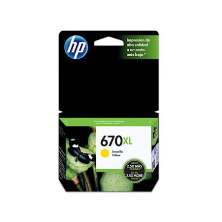 Cartucho Original Hp 670xl Yellow Cz120ab 6ml