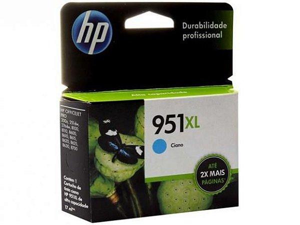 Cartucho Original HP 951xl Cyan Cn046ab HP Officejet 8100 8600 M276dw 8610 8620 8630 M251dw 17ml