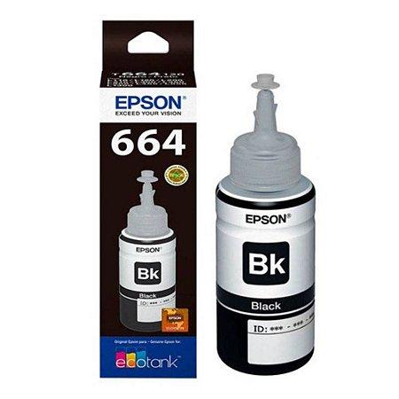 Refil De Tinta Original Epson T664120 Black 664 L355 L365 L200 L110 L555 L395 L396 L380 70ML