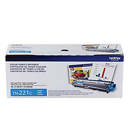 Toner Original Brother Tn221 Cyan | Brother Hl3140 Hl3170 Mfc9130 Mfc9330 Mfc9020  1.4k