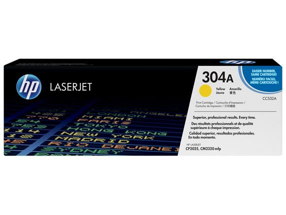 Toner Original Hp Cc532ac 304a Yellow | Hp Color Laserjet Cm2320 Cm2320n Cp2020 Cp2025 | 2.8k