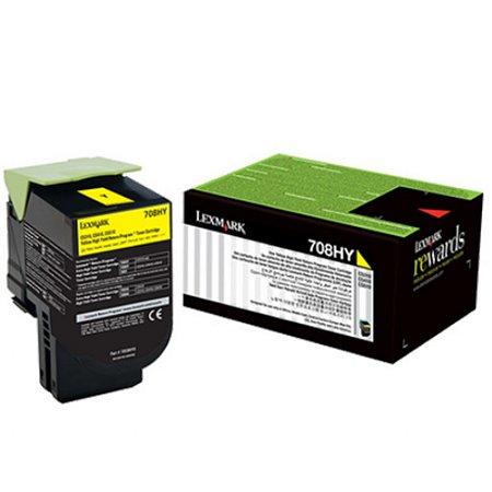 Toner Original Lexmark 708hy 70c8hy0 Yellow | Lexmark Cs310 Cs410 Cs510 | Rendimento: 3k