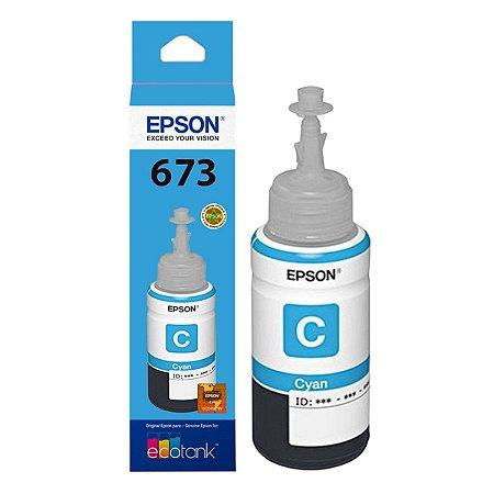Refil Tinta Epson T673 T673220 Cyan L800 L810 L1800 L805 70ml