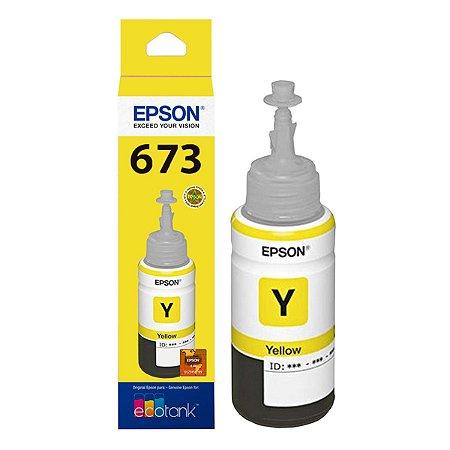 Refil Tinta Epson T673 T673420 Yellow L800 L810 L1800 L805 70ml