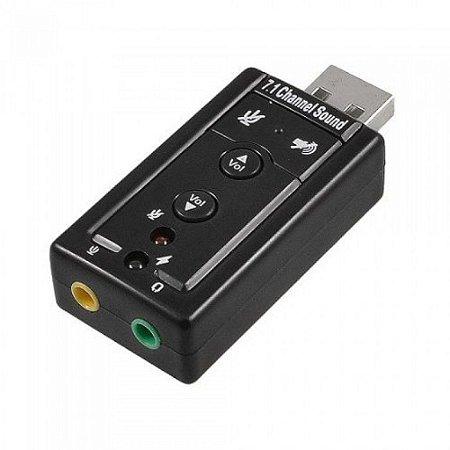 PLACA DE SOM USB STEREO c/ adaptador p2