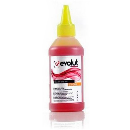 Refil Tinta Evolut Yellow Ev-365 P/ Ecotank E Tanque De Tinta Bulk Ink Hp | Epson 100ml
