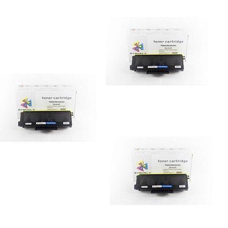kit 3 un Toner Compatível Brother Tn580 Tn-580 Tn650 Tn-650 Hl5350 5370 8480 Byqualy 7K
