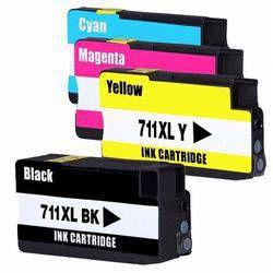 kit 4 Cartuchos Compatível  Hp 711 B C Y M  CZ133A CZ129A T520 T120 CQ890A CQ891A CQ893A 80ml