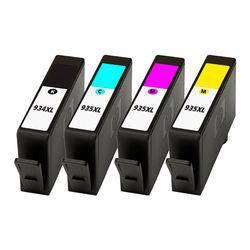 Kit 4 un Cartucho Compativel Hp 934xl Black 935xl color C Y M C2p23al Officejet 6230 6830 58ml