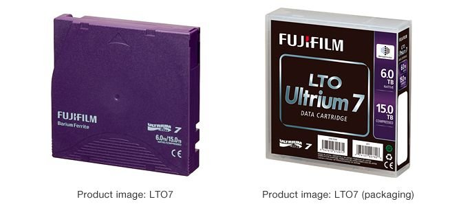 Fita LTO 7 Ultrium FujiFilm  6TB Native 15TB Compressed LTO7 LTO-7