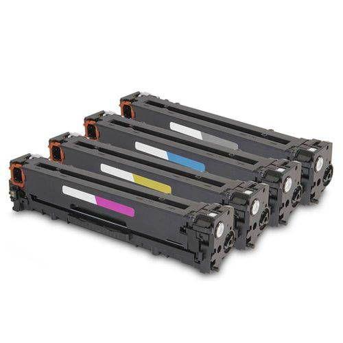 Kit 4 Toner Compatível Hp Cf500a Cf501a Cf502a Cf503a 202a M254 M281 K C M Y