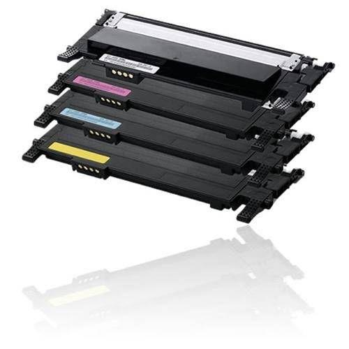 Kit 4 Cores Toner Compatível Samsung Clt 406 406S  Clx 3300 3306 3186 Clp 360 365 368 1,5K