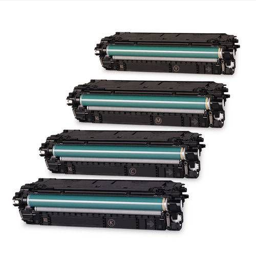 Kit 4 Cores Toner Compatível Hp Cf360a Cf361a Cf362a Cf363a 508A M552 M553 M577 Bestchoice 6k