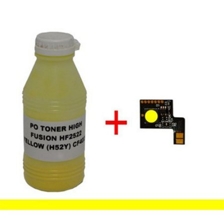 Kit Po cf 402+Chip Para  Cf402a cf402 201A Yellow  M252 M277 M274n  1.4K