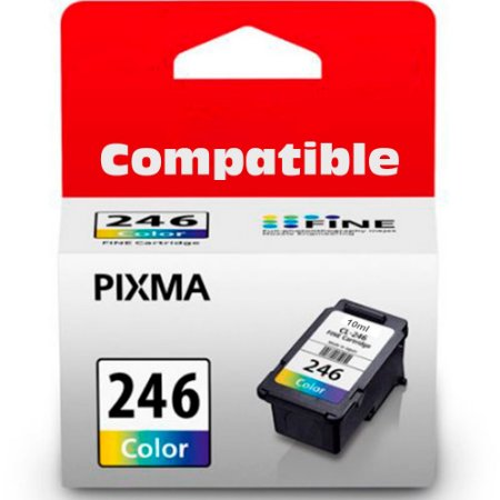 Cartucho Compativel Canon Cl246 Cl-246 Color MX492 MG3020 MG2920 MG2924 iP2820 MG2525 MG2420