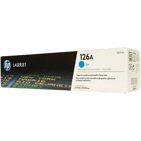 Toner Original Hp Ce311a Ce-311a 126a Cyan Hp LaserJet Color Cp1020 Cp1025   1k