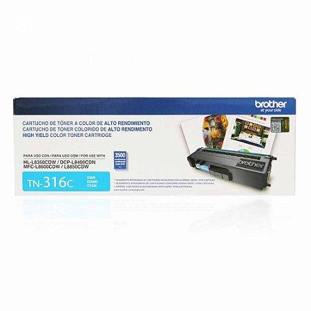 Toner Original Brother TN-316C TN316 Cyan DCP-L8400CDN HL-L8350CDW MFC-L8600CDW L8850 3.5k