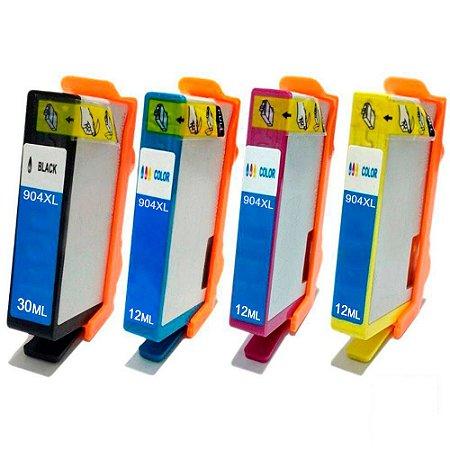 Kit 4un Cartucho Compatível 904 904XL Pro 6970 K M C Y
