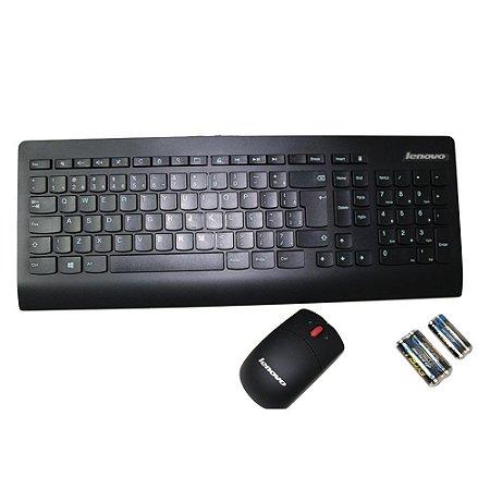 Teclado e mouse sem fio Lenovo Ultraslim Plus kbrf3971 c/pilhas