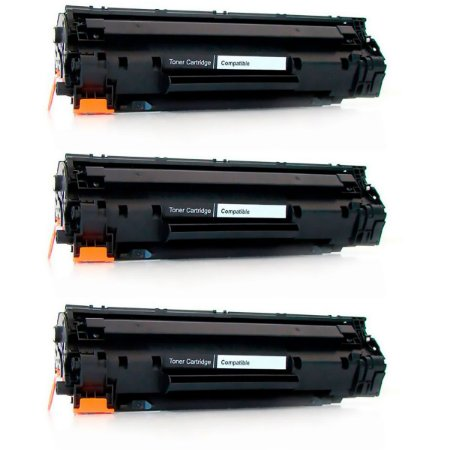 Kit 3x Toner Compatível HP CF217A 17A M130 M102 Sem Chip
