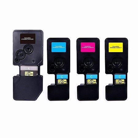 Kit 4 Toner Compatível Kyocera Tk5242 TK-5242 K M C Y 5242 Ecosys M5526 P5026  M5526CDW P5026CDN