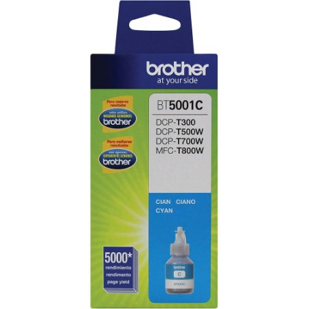 Refil Tinta Original Brother BT5001c Cyan DCP-T300 DCP-T500w DCP-T700w MFC-T800w Val 10/2018