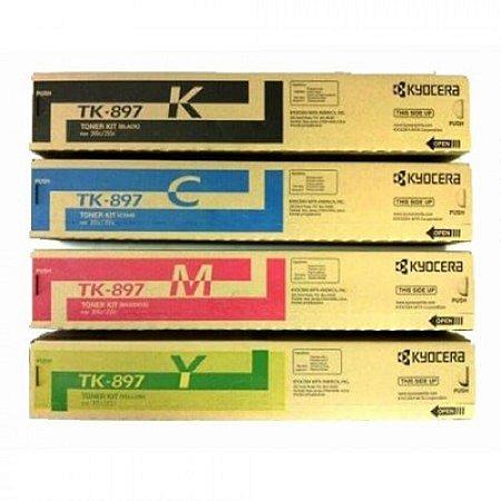 Kit 4un Toner Original Kyocera Tk-897 Tk897 K M C Y | Kyocera Taskalfa 205c 255c C8520 C8525