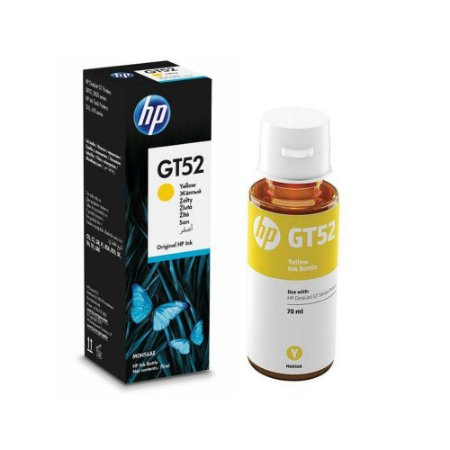 Refil Tinta Hp Original M0H56AL Yellow GT52 GT-52 GT5822 GT416 412 GT116 316 116 70ml