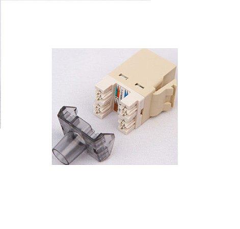 Conector Rj45 Femea Cat6 Bege Keystone 568A/B