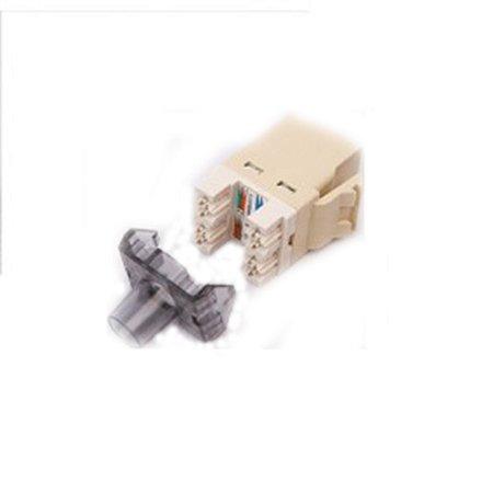 Kit 10un Conector Rj45 Femea Cat6 Bege Keystone 568A/B
