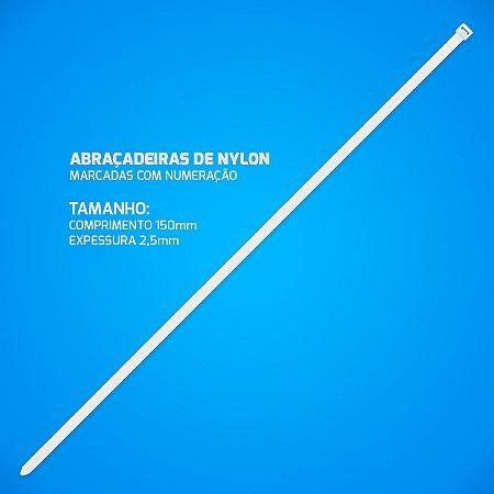 Abraçadeira Nylon Enforca Gato 2,5 x 150 mm 3000 Unidades