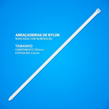 Abraçadeira Nylon Enforca Gato 3,6 x 150 mm 1000 Unidades