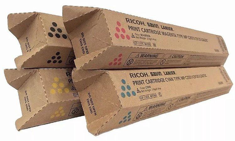 Kit 4 un Toner Original Ricoh C2030 C2050 C2051 C2550 C2551 K M C Y