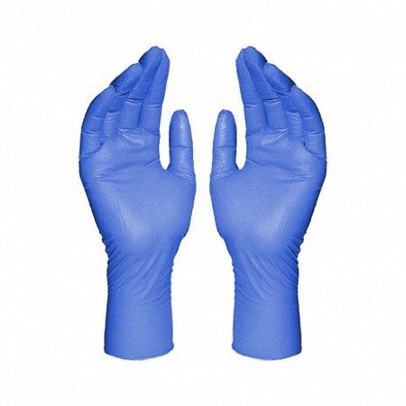 Luva Procedimentos Nitrílica Azul Sem Pó Tam G C/100 Und BomPack