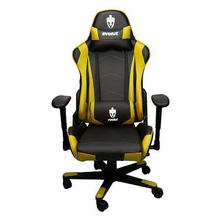 Cadeira Gamer Evolut EG-900 Amarelo C/ Preto Professional