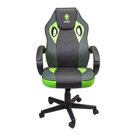Cadeira Gamer Evolut EG-901 Verde C/ Preto