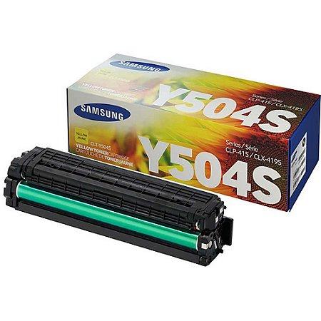Toner Original Samsung Y504s 504s CLT-Y504S Yellow CLP415 Clx4195 C1810 C1860 C1404 C1454 1.8k
