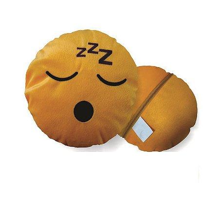 Almofada Emoji Dormindo Whatsapp 28cm Fino Acabamento