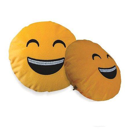 Almofada Emoji Sorridente Whatsapp 28cm Fino Acabamento