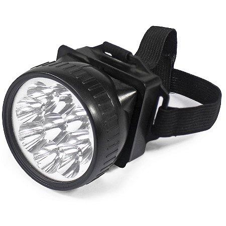Lanterna De Cabeça Com 9 Leds A Pilha 7cm - Mb4000