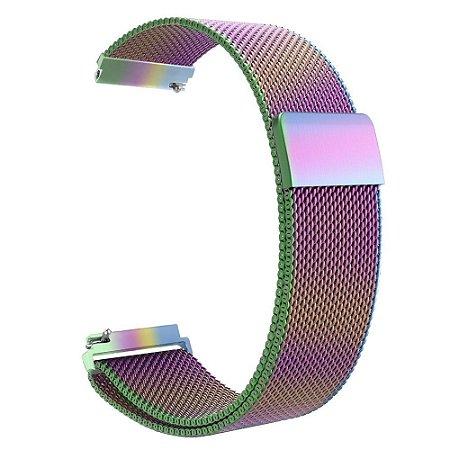 Pulseira Loop Milanese Malha de Aço P/ Apple Watch 42mm | 44mm Colourful