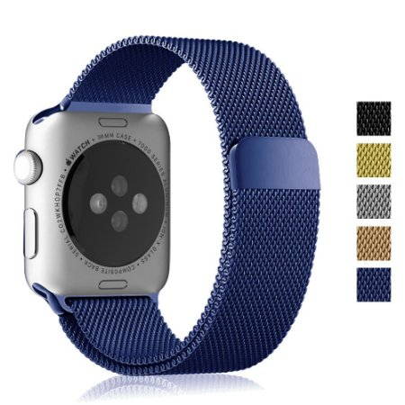 Pulseira Loop Milanese Malha de Aço P/ Apple Watch 42mm | 44mm Blue